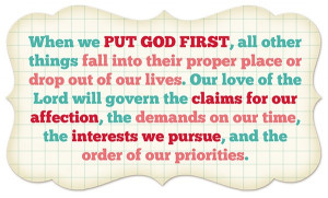 Put God first quote by Ezra Taft Benson