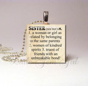Army Sister Poems Sister necklace pendant