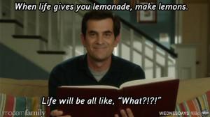 modern family when life gives you lemonade make lemons