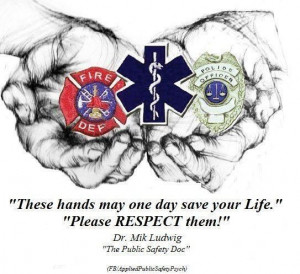 ... say thank you thank you fellow dispatchers officers fire and rescue