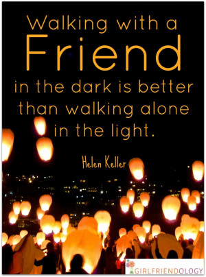 Walking with a Friend Is Better in the Dark