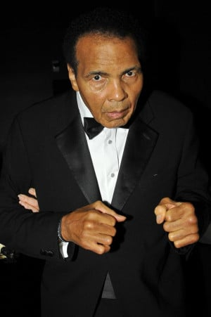 Muhammad Ali's daughter says her dad is on the mend. (Allen Berezovsky ...