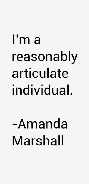 Amanda Marshall Quotes amp Sayings