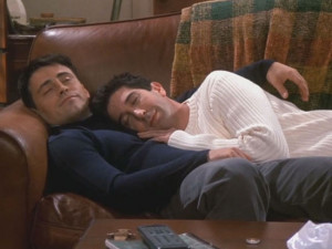 In modern society, two bros spooning just isn't that big of a deal.
