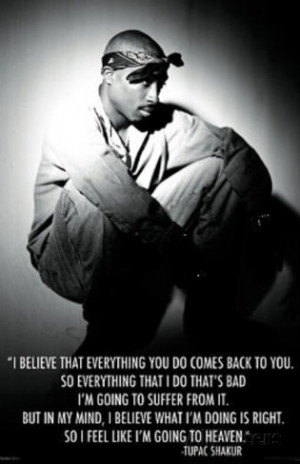 Tupac Shakur Going to Heaven Music Poster Print Poster