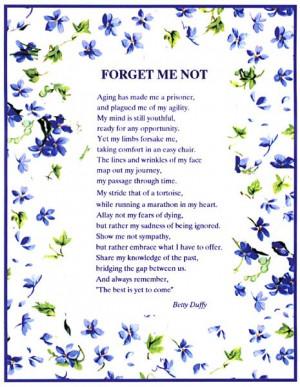 Forget-Me-Not Program