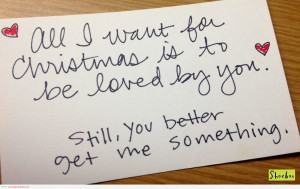 All I Want For Christmas Is To Be Loved By You