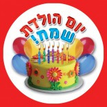 Happy Birthday Stickers Type