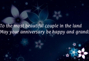... beautiful couple in the landMay your anniversary be happy and grand