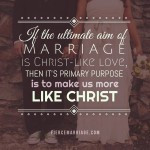 If the ultimate aim of marriage is Christ-like love, then it's primary ...