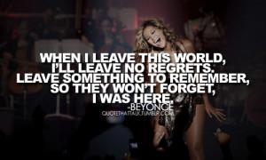 Beyonce I Was Here Quotes Beyonce i was here quotes