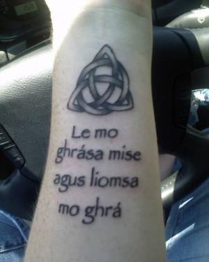 Gaelic Tattoo with Symbol