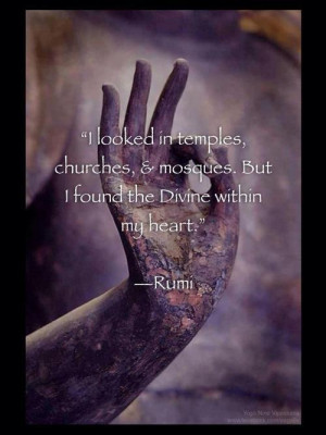 Rumi Quote on God and the Divine