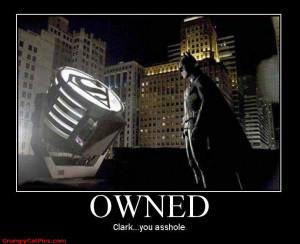 Superman Takes Over Batman's Spot Light Funny Captions Picture