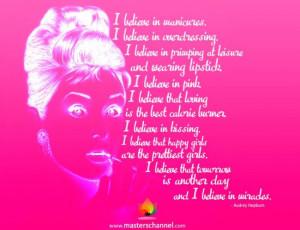 Hepburn Quotes I Believe In Manicures Audrey hepburn - i believe in ...