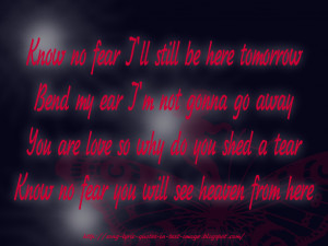 Heaven From Here - Robbie Williams Song Lyric Quote in Text Image