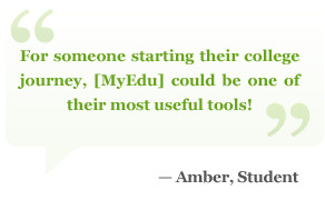 For someone starting their college journey, MyEdu could be one of ...