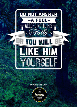 ... turning proverbs from the Bible into attractive typographic posters
