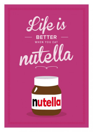 Nutella Retro Inspirational . Quote Giclee Art Print - Vintage ...