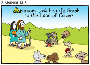 our dogs would tell us about themselves, if they could use the Bible ...