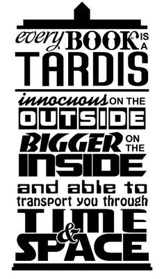 from etsy doctor who inspired tardis is like a book quote decal