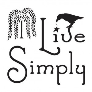 Primitive STENCIL**Live Simply w/willow & crow** 12