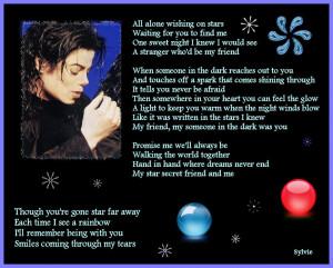Michael Jackson Someone in The Dark lyrics