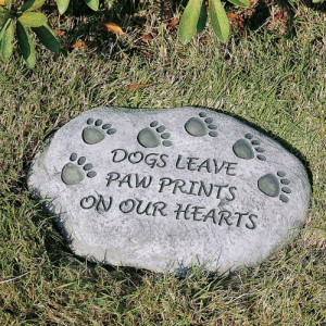 ... Enterprises Dogs Leave Paw Prints On Our Hearts Pet Memorial Stone