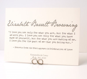 Romantic Quote Table Cards