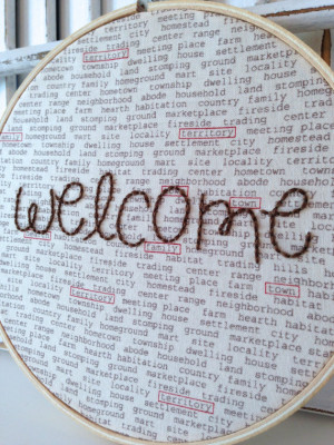 Welcome Quote, Hand Embroided Hoop Art, New Home, 6 Inch Hoop, 100% ...