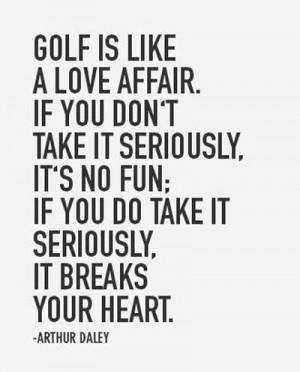Golf quote