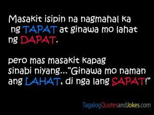 Simple Tagalog Quotes Images -