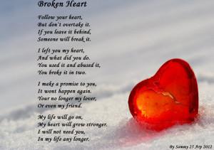 broken hearts broken heart poems broken heart quotes broken heart and ...