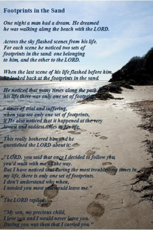 Footprints :: Footprints in the Sand Prayer picture by holymusic55 ...