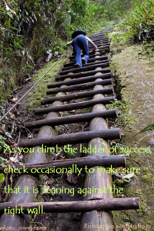 Ladder of Success - Inspirational Thoughts, Quotes, Pictures