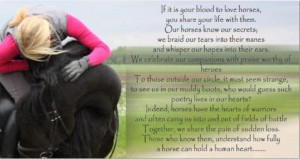 Enjoy this beautiful horse quote