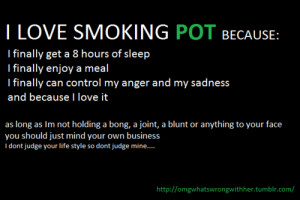 why do you love smoking