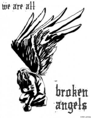 Broken Angel Wings Quotes Artwork - broken angel