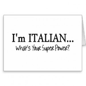 Im Italian Whats Your Super Power Card