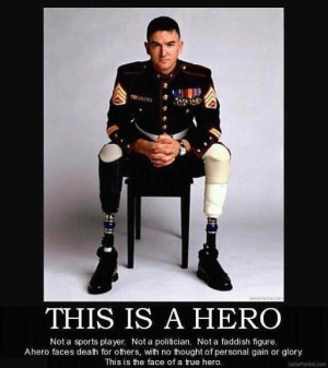 Motivational Poster- about a war hero
