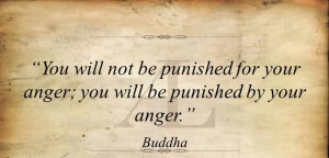 You will not be punished for your anger, you will be punished by your ...