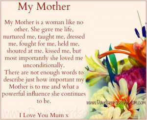 Nice poem for Mother's Day