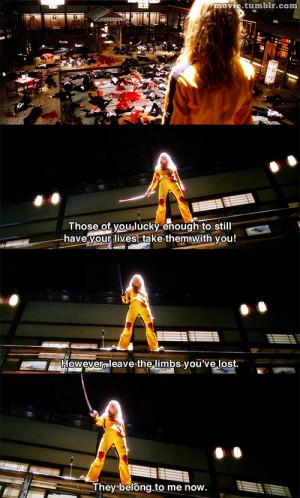 Movie Quote Quentin Tarantino movie quotes kill bill kill bill quotes
