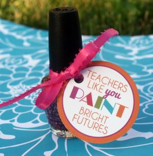 Printable Teacher Nail Polish Gift Tags