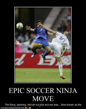 Funny Soccer Injuries Epic soccer ninja move!