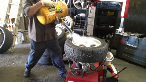 the effects of the tire stuffing makes the tire not want to create a ...