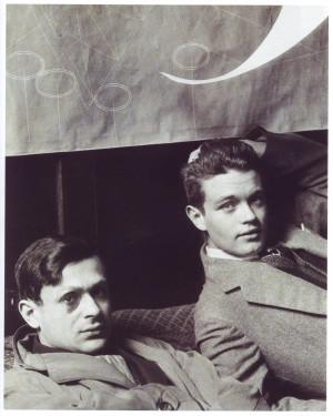 Tristan Tzara and René Crevel by Man Ray, 1928