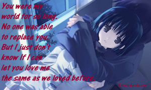 -love-me-quotes, boy-love, i-love-you-but-you-dont-love-me, sad-anime ...