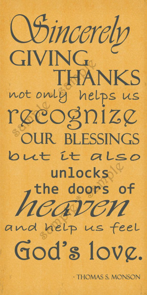 Giving Thanks Quotes And Sayings: Inspirational Quotes About Giving Thanks. QuotesGram