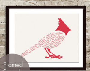 Quotes Birds Cardinals ~ Popular items for birds and words on Etsy
